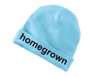 Homegrown Funny Cotton Beanie For Infants