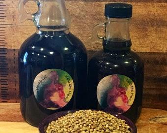 Organic unrefined hemp oil