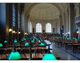 Boston Public Library, Fine Art Photography, Boston Prints, Home Decor, Library Art, Architectural Photograph, Boston Landmarks, Pictures