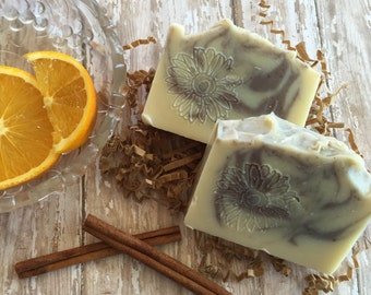 Cinnamon Orange Cold Process soap