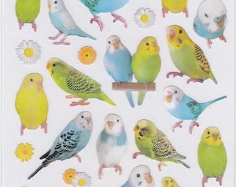 Budgie Budgerigar Parakeet Stickers  Price depends on order volume. 10996