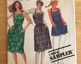 Apron Wrap Dress Sewing Pattern