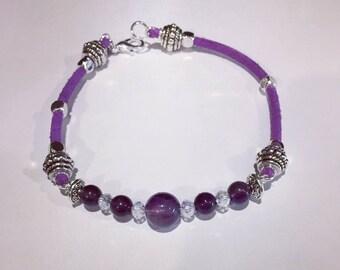 Natural Amethyst Bracelet February Birthstone