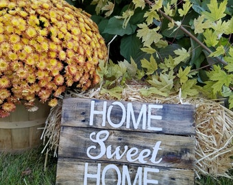 Rustic Reclaimed Pallet Sign: Home Sweet Home