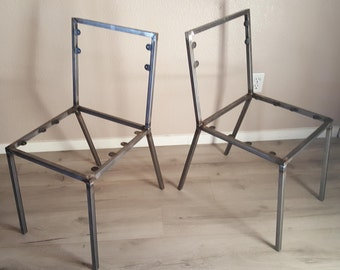 Awesome Steel Dining Chair Frame Set Of 2 Chair Frames DIY Create Your Own Dine Chair  Frame