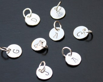Initial Tag Sterling Silver .925 Initials Tag Charm Add On