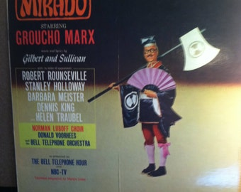 Groucho Marx The Mikado Vinyl Musical Cast Record Album