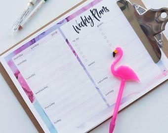 Open Weekly Planner - Digital Download - Printable Planner - Printable To Do List - Blank Weekly Calendar