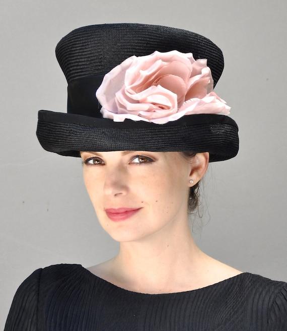 Derby Hat, top hat, black hat, pink hat, mad hatter, Ascot hat, women's formal hat, Occasion Hat