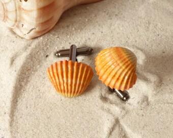 Seashell Cufflinks - Take me to the Ocean Collection - Schickie Mickie Original 100% Handmade