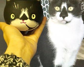 Customize Cat Planter, animal planter, 3D printed, Cute, cat lover gift, Cat lover Gift, Kitty Planter, catlady
