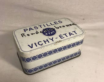 Old box Metal PASTILLES VICHY condition in its juice #3