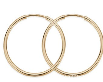 1 Pair, 14k Gold Filled Hoop Earrings 14mm (GP-GF4003801)