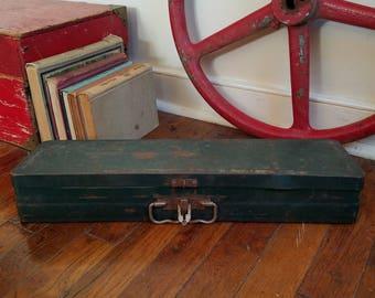 Industrial Metal Tackle Box ~ Green