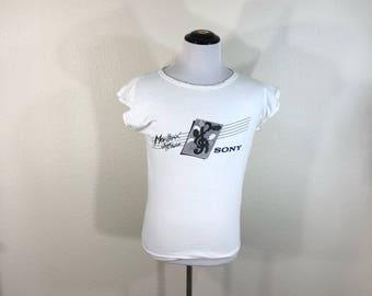 80's vintage all cotton sony jazz festival t-shirt size L