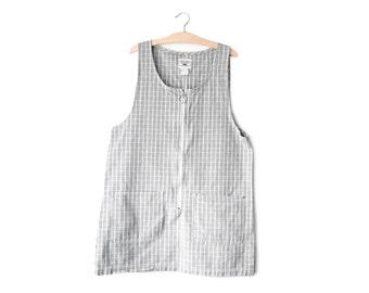 90's plaid jumper dress | L