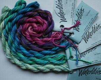 20% OFF SALE Caron Waterlilies Silk Threads Hand Dyed Variegated Silk Threads