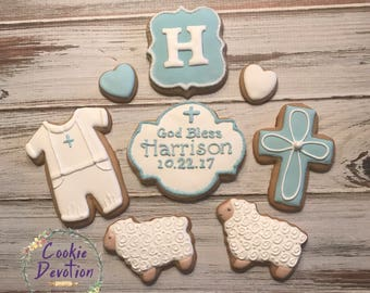 Baptism Decorated Cookies