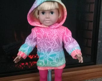 "Sweatshirt and Leggings for 18"" Dolls such as American Girl, My Life, Journey etc."
