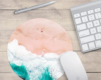 Beach Mouse pad,  Ocean Mousepad, Beach Computer Mouse Pad, Ocean Blue Mouse pad, Desk Mouse Pad, Girly Mouse Pad, Desk Accessories Gift