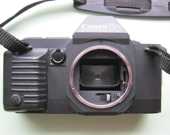 Vintage reflex camera Canon T 70 body with bag, around 1984 very good condition