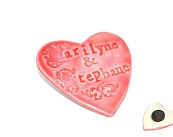 Ceramic - custom name magnet