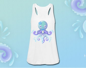 White tank top lightweight OctoCute