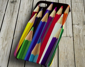 Pencils iPhone 4/4S Case iPhone 5 Cover Plastic iPhone 4/4S/5 Case unique colorful crayons