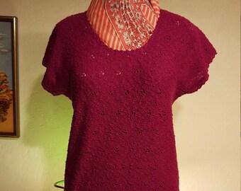 Raspberry LeRoy Sweater
