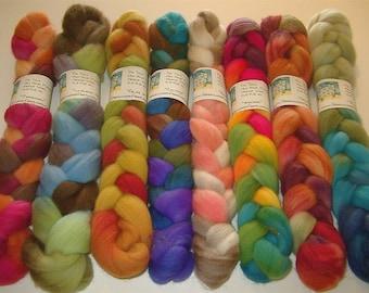 SAMPLE BOX SURPRISE Hand Painted Merino Wool Rovings