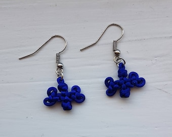 Mini Triple Clover Knot Earrings