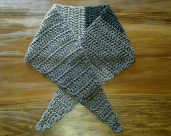Crochet Earl Grey Color Block Scarf