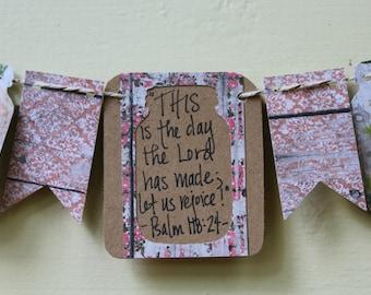 Psalm 118:24 Mini Scripture Bunting
