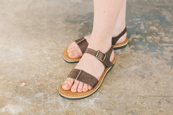 Strappy Leather Sandals Brown Shoes Sandals Brown Sandals Sandals Sandals Vintage Ankle Women Summer Sandals Brown Summer wq4A7adwn