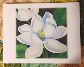 Note cards, blank note cards, greeting cards, thank you cards, original note cards, notecards, magnolia art, flower note cards