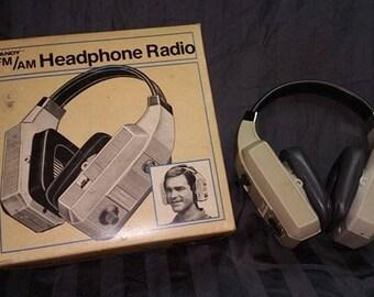Vintage Tandy FM/AM Headphone Radio