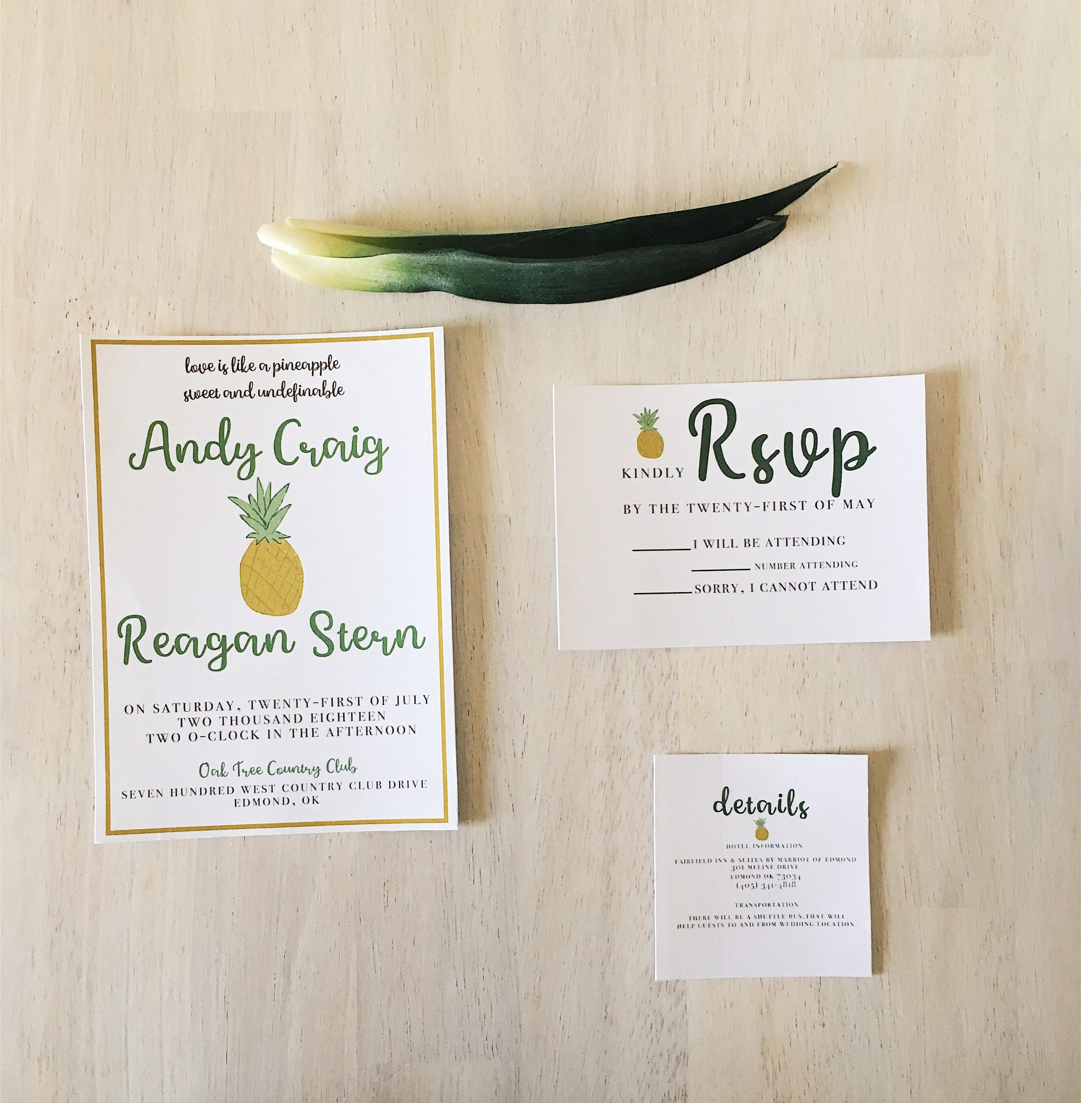 Pineapple wedding invitation, Tropical Wedding Invitation, Luau ...