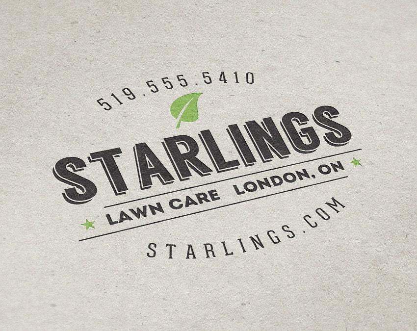 premade logo design lawn care logo landscaping logo premade