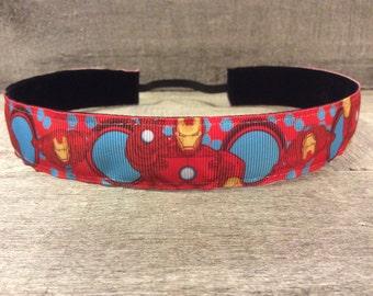 Iron Man Nonslip Headband,  Noslip Headband, Workout Headband, Sports Headband, Running Headband, Athletic Headband