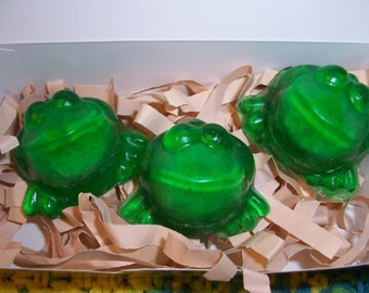 EXPLODING FROG Soaps by Howard's Home(tm) Gift Boxed Set of 3 with card tag - Great for gifts