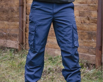 "Military Tactical pants ""UNTER"" Navy Blue Trousers Army camouflage black, brown, beige, blue, green, gray ..."