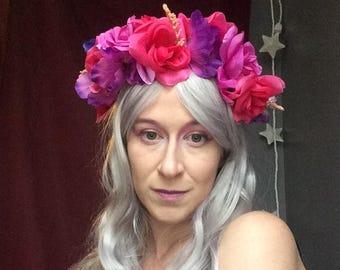 Rose Queen Flower Crown