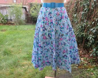 Pleated Skirt / Pleated Skirts / Circle Skirt / Skirt Floral / Skirt Vintage / Size EUR40 / 42 / UK12 / 14