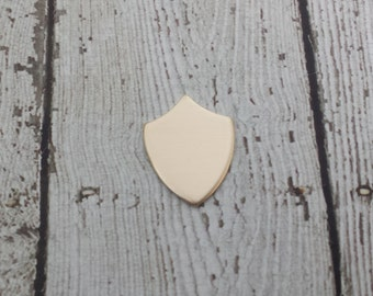 Nu Gold Shield Blank - Shield Stamping Blank - 16G Nu Gold Shield Blank