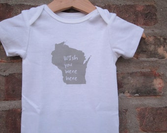 cute baby Onesie®, wisconsin baby clothing, wisconsin baby gift, wisconsin love, wisconsin shower gift, baby neutral, cute baby gift,