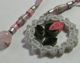 Pink Rosebud Bookmark