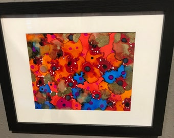 Candy Sprinkles Alcohol Ink Painting by John Daniel