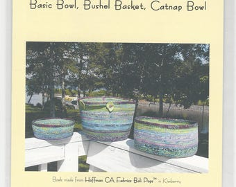 Bali Bowls by Aunties Two, directions for 3 size bowls, jelly roll friendly.