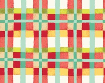 One Yard Mischief  - Happy Plaid in Red - Little Boy Fabric Line Designed by Nancy Halvorsen for Benartex (W890)