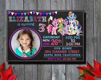 My Little Pony Invitation / My Little Pony Birthday Invitation / My Little Pony Party Invitation / Birthday Invitation / Girl Invitation / C